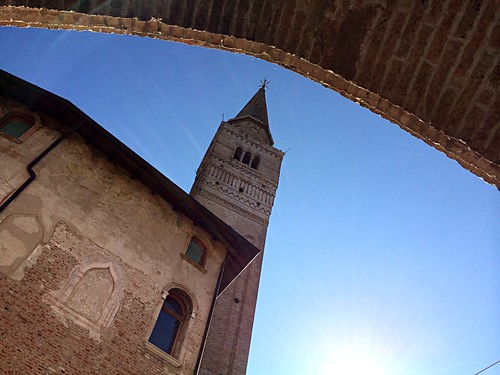 Pordenone - San Marco tower bell and Ricchieri building