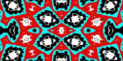 Fridge Magnet Aug 29 (joybidge) Tags: wild canada art awesome vivid colourful ornate psychedelic exciting kaleidoscopic detailed alteredimage fractallike veganartist naturepatternscanada philscomputerart magicalgeometry inkblottishdesigns