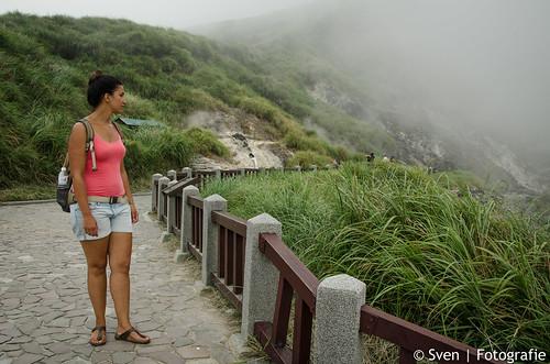 Lots of steam in Yangmingshan National Park