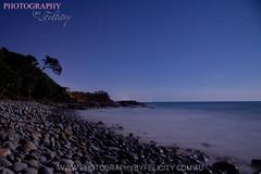 20.09.2013 Moon Rise 2nd Bay (Photography By Felicity) Tags: longexposure nightphotography moon seascape stars moonrise sunshinecoast nightscapes