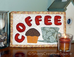 coffee_mug_rug (Sher's Creative Space) Tags: coffee sewing applique mugrug coffeemat coffeequilt miniquiltquilting appliquetemplates coffeemugrug