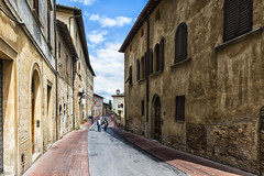 Street walk (BAN - photography) Tags: street buildings rustic tuscany shutters sangimignano pavestones