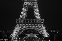 Tour Eiffel & Ecole Militare (Mark.W.E) Tags: city urban blackandwhite bw paris france tower tourism night canon photography la blackwhite europe photographer tour sigma august eiffel freelance 2014 cityoflight sigma18250 canong16
