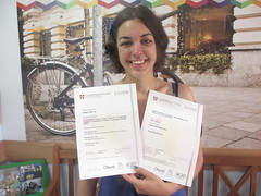 With my Delta certificates at last! (eltpics) Tags: tefl efl elt teaching qualifications pride eltpics teacher certificates happiness happy