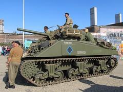 Market Garden 2014, Nijmegen (Stewie1980) Tags: netherlands canon nijmegen tank 21 military nederland powershot september vehicle sherman gelderland 2014 marketgarden nimwegen militair voertuig vasim sx130 nimgue sx130is canonpowershotsx130is