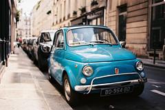 Fiat 500 in Paris - Slightly out of focus :( (Amelien (Fr)) Tags: film analog zeiss 35mm nikon fiat kodak explore 100 135 500 fm3a argentique 140 2014 distagon ektar c41 zf explored zf2 capturedonrealfilm