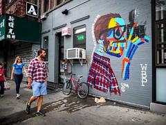 Bradley Theodore - LES, NYC (john fullard) Tags: street city nyc urban streetart newyork les graffiti mural candid explore plaid fujix10 bradleytheodore