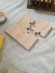 Oak Jigsaw coasters