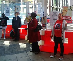 Supporters Representin @ Kingsley Burrell protest - 8 Sept 2014