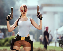 Tomb Raider Lara Croft (TanyaCroft) Tags: classic girl sunglasses cosplay laracroft tombraider braid deserteagle tanyacroft