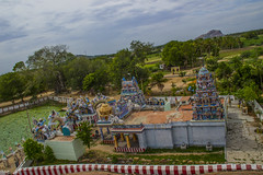 Temple View4 (Freeze the moments!) Tags: old trees people mountain green nature statue temple madurai pillayar samanarmalai nagamalai vasanthjune keelakuyilkudi