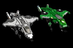 BRIX Halo UNSC Sparrowhawk V1.0 Side by Side with Original (IK) Tags: lego halo ldd 1s