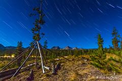 Mountains. Stars. Beautiful. (roberthuguezphotography) Tags: longexposure stars nightsky teepee startrails sawtooth startrail redfishlake