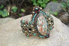 Klimt_2 (~Gilven~) Tags: beads bracelet bead pearl swarovski beading beadembroidery soutache
