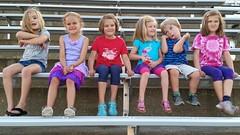 Kids In The Stadium (Joe Shlabotnik) Tags: cameraphone lily stadium violet grace madeleine kaela everett 2014 wstc foresthillsstadium galaxys5 june2014