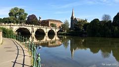 Reflections in the River Severn (Bob.W) Tags: shropshire riversevern shrewsbury englishbridge coth5
