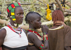 Bashada Tribe During A Bull Jumping Ceremony, Dimeka, Omo Valley, Ethiopia (Eric Lafforgue) Tags: africa people music horizontal hair outside outdoors photography community colorful day outdoor african performance ceremony culture blowing tribal celebration ornament omovalley horn tradition ethiopia tribe pastoral ethnic hairstyle groupofpeople anthropology hamar developingcountry hamer headdress traditionalculture hammar headwear hornofafrica ethnology ethiopian omo eastafrica traditionalclothing realpeople smallgroupofpeople colorpicture redochre dimeka turmi africanethnicity pastoralist indigenousculture pastoralism onlywomen bullleaping bashada snnpr southethiopia bulljumping colourpicture omorivervalley hamerbenaworeda ethiopianethnicity hamerbena ethio1402599