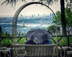 2015-06-17_09-47-00 (erkantrukten) Tags: love rain umbrella turkey flickr view hill istanbul raining yamur amlca