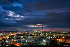 Sunset Time -  (uemii2010) Tags: japan fukuoka kitakyushu kurosaki technoscape sky sunset night longexposure factory industrial plant canoneos7d canonefs1022mm