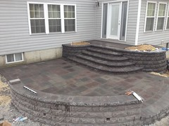construction (22) (The Sharper Cut Landscapes) Tags: belgardhardscapes backyard landscapedesign landscaping landscapecompany landscapelighting patio pavers plantings seatwall steps retainingwall thesharpercutlandscapes thesharpercut