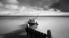 Sidewinder. The old groyne at Overstrand (Photography by Tosh) Tags: appicoftheweek longexposure mono groyne d750 eastanglia norfolk northnorfolk overstand beach coast martintosh nikon ocean outdoors sea uk waves overstrand england unitedkingdom gb