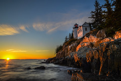 Light and Hope (mbryan777) Tags: d8j8567cx6x4 bassharborlighthouse acadianationalpark maine lighthouse sunset rocks waves sky light red glow mbryan777 michaelbryanphotography breakthroughphotography x46stopnd