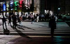 with their shadows (N.sino) Tags: m9 summilux50mm shadow marunouchi crosswalk tokyostation