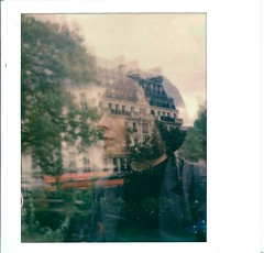 Untitled - parismorphosis #2 (marion (milky soldier)) Tags: doubleexposure spectra paris girl portrait anne parisian roidweek roidweek2016 polaroidweek polaroidweek2016 impossibleproject impossible film polaroid instantfilm