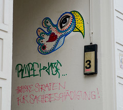 HH-Wheatpaste 3066 (cmdpirx) Tags: hamburg germany reclaim your city urban street art streetart artist kuenstler graffiti aerosol spray can paint piece painting drawing colour color farbe spraydose dose marker stift kreide chalk stencil schablone wall wand nikon d7100 paper pappe paste up pastup pastie wheatepaste wheatpaste pasted glue kleister kleber cement cutout