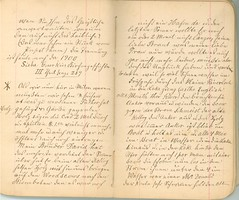 Krueger-Journal_p11-12 (Max Kade Institute for German-American Studies) Tags: krueger journal handwriting german script immigration frederickkrueger martinkrueger handwritten cursive kurrent
