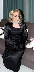 Black Satin Gown (Christine Fantasy) Tags: blonde cd christine crossdresser drag dress earrings elegant evening fantasy feminine glamour gloves gown heels jewellery makeup necklace petticoat satin sexy shemale skirt stiletto tiara transsexual transvestite