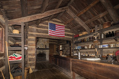 Berry-Lincoln Store - Interior (Larry Senalik) Tags: 2016 canon dslr illinois lincoln new salem state t3i autumn building cabin fall historic log site store