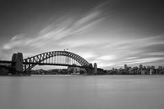 Harbour Bridge ([~Bryan~]) Tags: harbourbridge harbour sydney longexposure ndfilter monochrome bw blackandwhite architecture daytimelongexposure bridge nd110 time australia nsw