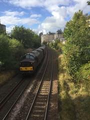 Class 37 669 brings up the rear on an SRPS Borders railway/Fife Circle railtour as it passes through Morningside on the Edinburgh suburban line. (calderwoodroy) Tags: dieselloco edinburghrailways northbritishrailway edinburghsuburbancircle 37669 class37dieselloco westcoastrailways srpsrailtours railtour morningside scotland edinburgh