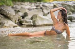 Nina (ecker) Tags: badekleidung bademode bikini fluss frau ganzkrper nina umgebungslicht wasser availablelight naturallight river swimwear water woman sony a7 zeiss batis 85mm zeissbatis1885 sonnar steine