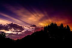 2 Days later... (vale0065) Tags: sunset zonsopgang colour collor kleur fuji xq1 pocket vlaanderen flanders belgium belgi vorst laakdal street straat landscape landschap clouds wolken sun zon evening avond rays stralen carlights orange oranje purple paars purper silhouet dark donker