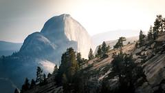 Silver Lining - Yosemite National Park (~ jose ~) Tags: yosemite half dome halfdome california national park mountains light rays shadows sunset trees