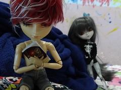 Fucinho enxerido! (1) (BiassaurRex~☆) Tags: taeyang nick rayne rewigged pullip mitsui elisabeth obitsu27 obitsu clear
