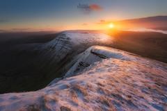 Pen Y Fan Sunrise (rach_brown1989) Tags: sunrise mountains breconbeacons wales welsh uk unitedkingdom snow bbcwalesnature sunlight orange clouds landscape pen y fan