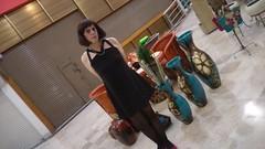 Mini black dress ( follow me please) (maycrossdresser) Tags: crossdress crossdresser crossdressing miniskirt miniblackdress pantyhose hose