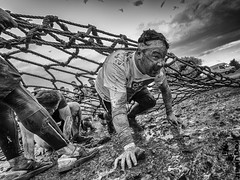 Survival of the Fittest (rogueslr) Tags: canon 50d sigma 1020mm photoshop cc 2015 nik efex pro 2 survival fittest mens health nottingham oct 2016 uk holme pierrepont national watersports centre mud cargo nets water suffering race