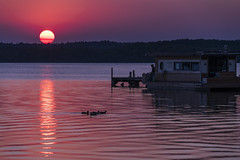What would you do... (dlorenz69) Tags: lake sunset colors romantic trashy see neustrelitz zierker germany pink