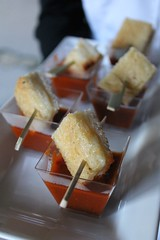 IMG_3484 (avaloncatering) Tags: clermont maid costume appetizer passed tomato soup grilled cheese skewers food horizontal