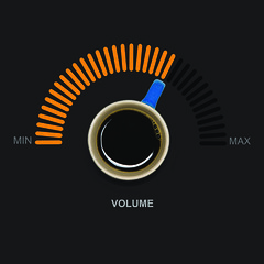 Pump up the volume (le cabri) Tags: volumeknob coffee coffeecup music noise texture controlpanel turning amplifier switch lights orange blue multimedia orangecolored blackcoffee illustration metal knob technology stereo scale tuner curve square abstract candid designelement drink lifestyle