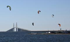 Kite surfing near Skyway Bridge in St. Petersburg (16) (Carlosbrknews) Tags: kitesurfing stpetersburg skywaybridge tampa bay florida