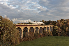 Viaduct by the aqueduct (EltonRoad) Tags: 5043 earlofmountedgcumbe castle class gwr chester wrexham shropshire chirk viaduct steam train railway line vintagetrains