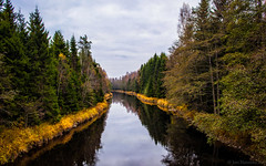 River (Joni Mansikka) Tags: nature autumn river woodland trees dark water forest clouds october suomi finland eteljoki canonef2870mmf3545ii