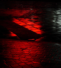 red streets (samirart) Tags: red street streetlife rainy rain water reflection photo photography fun art artistic abstract autumn captured architecture structure lights light city citylights outdoor favourite focus macro macrodreams evening night dark cold galerie explore emotion beautiful detail travel town