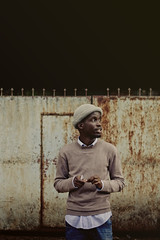 - morning | creator ll - (Philip Kisia) Tags: pelz pelzphotography nairobi kenya male beanie wool woolen sweater jeans denim green blue gate rustic prince nubian ebony east africa kileleshwa marvin hat