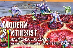 Shared some more photos of the #armiesonparade board in today's blog post. Link in bio! #haemonculuscoven #CovenOfTheUnmarred #haemonculi #haemonculus #coven #gamesworkshop #gw #hobby #tabletopgaming #wh40k #40k #scratchbuild #conversion #kitbash #convert (Modern Synthesist) Tags: warmongers dark eldar tyranids modernsynthesist warhammer40k games workshop gamesworkshop wh40k 40k gw darkeldar